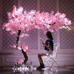 100cm 10pcs Silk flowers Long-Peach Sakura Artific
