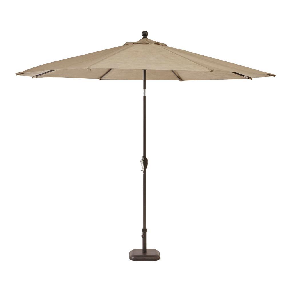 Hampton Bay 10 Ft Crestridge Steel Market Outdoor Patio Umbrella