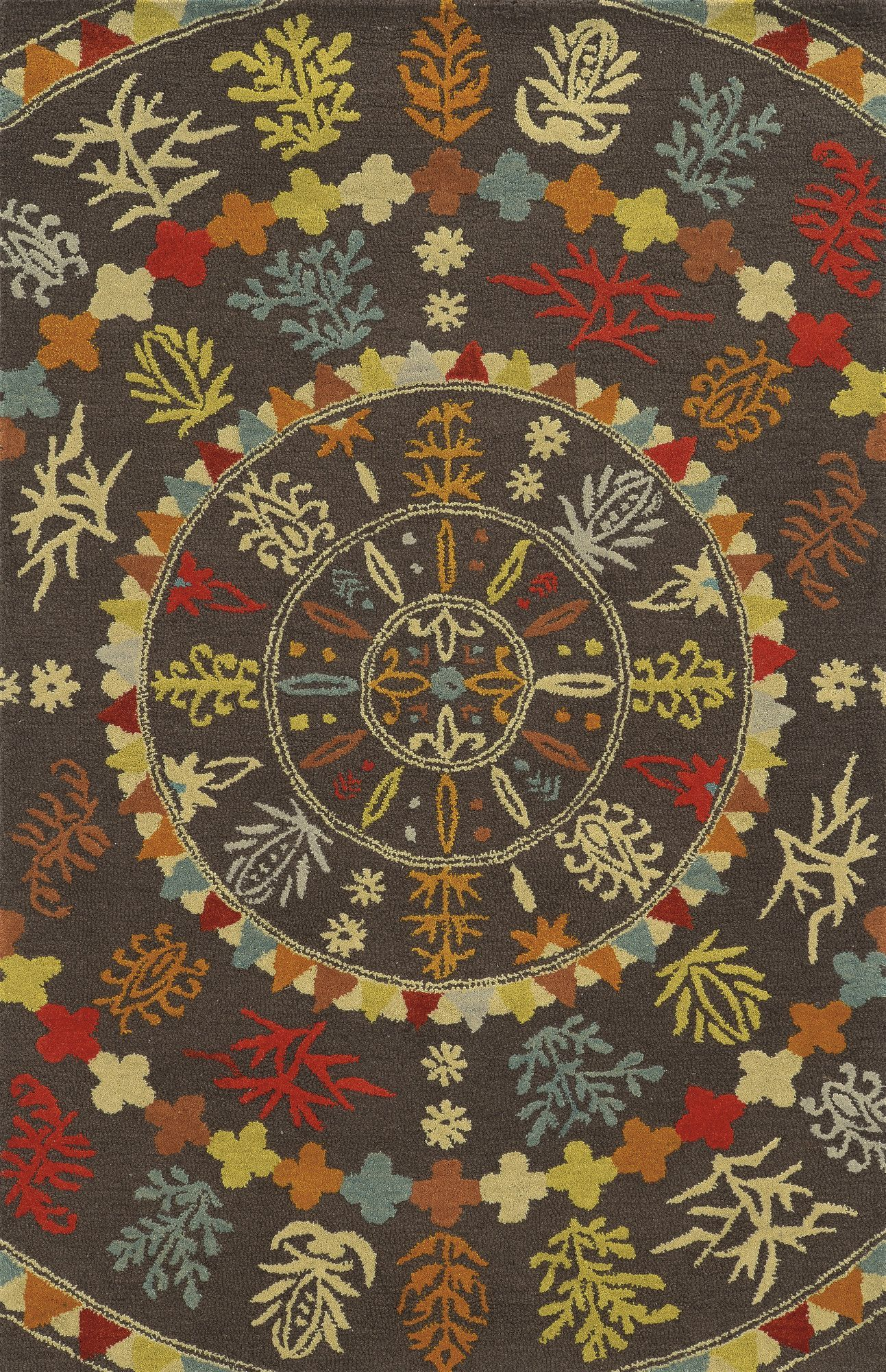Galveston Hand-Tufted Brown/Red Area Rug