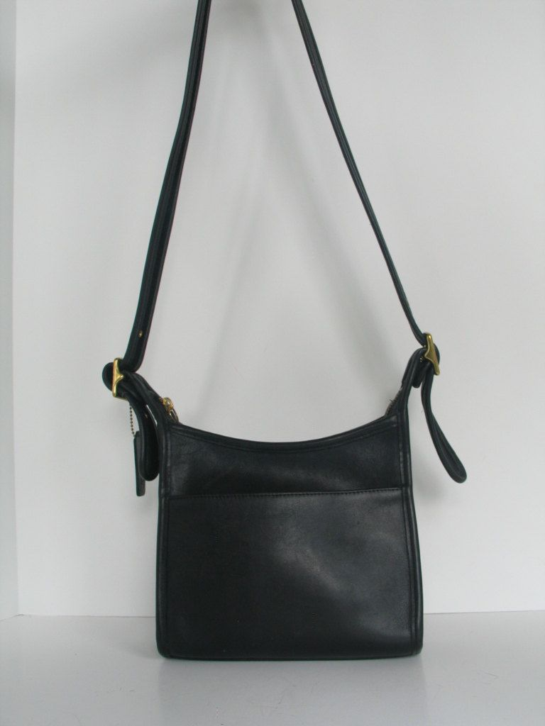 235b73a729 Vintage COACH Legacy Black Leather Crossbody Messenger Bag Zip Top Handbag   USA  Hippie-Boho-Hipster-Unisex in excellent vintage condition. by  PinkyLaRoux ...