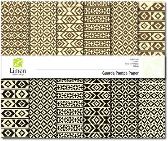 Digital Paper Pack Guarda Pampa Design