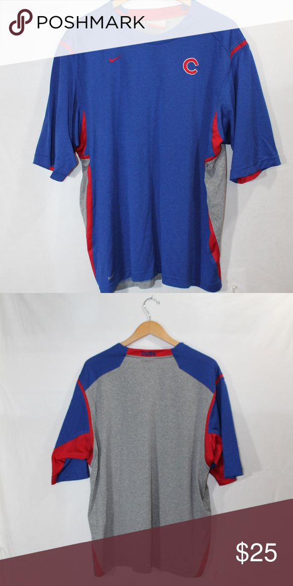 34663ec7933b Nike - DryFit Cubs shirt Excellent condition 100% poly shirt Nike Shirts