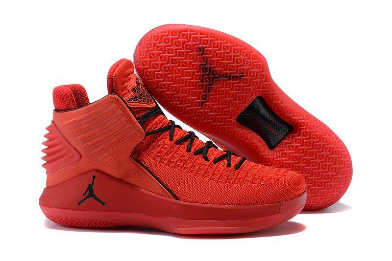 98ba841e12e Mens Air Jordan 32 XXXII Rosso Corsa Gym Red Black AA1253-601 Basketball  Shoe For Sale