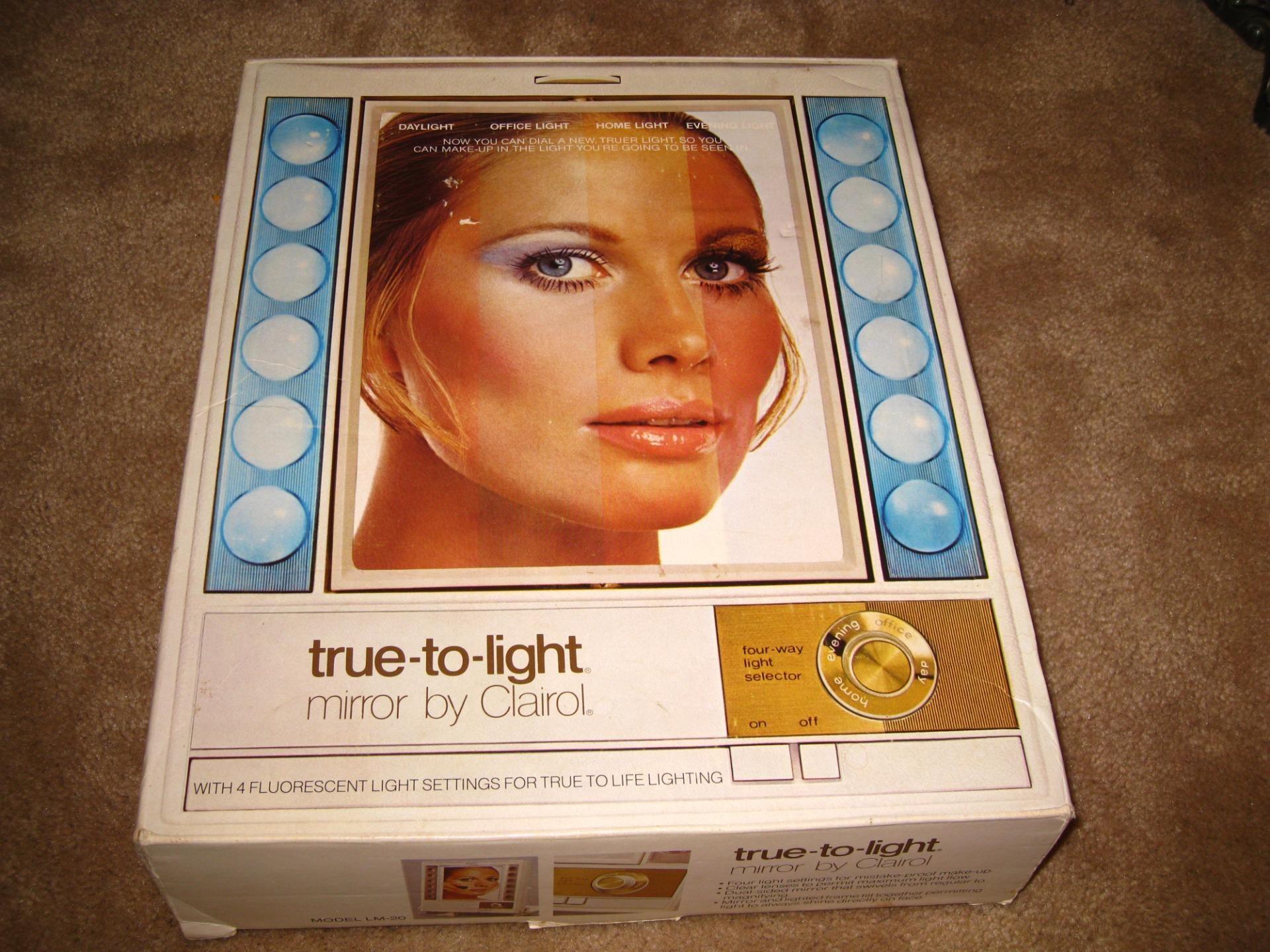 1970 Clairol True To Light Mirror Vintage Makeup Mirror Mirror