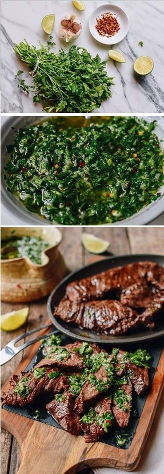 #Grilled #Skirt #Steak with #Chimichurri recipe by the Woks of Life