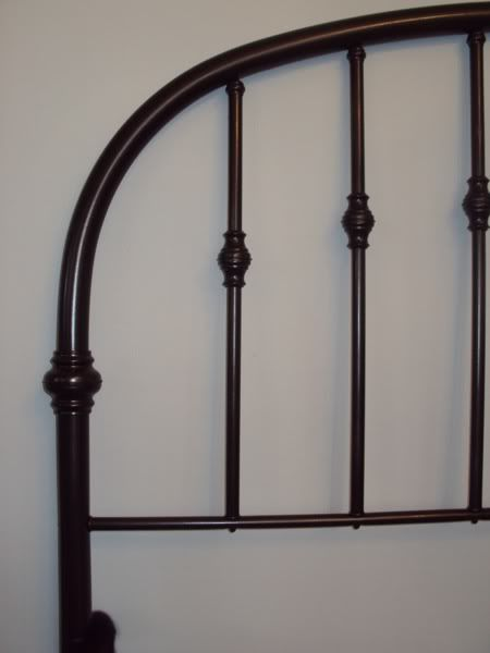 Dated Brass #headboard Transformed With #spray Paint #Rustoleum Carbon  Mist. Looks Like An Iron Bed Now.
