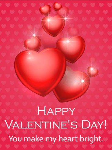 You make my heart bright happy valentines day card does every you make my heart bright happy valentines day card does every room brighten when m4hsunfo