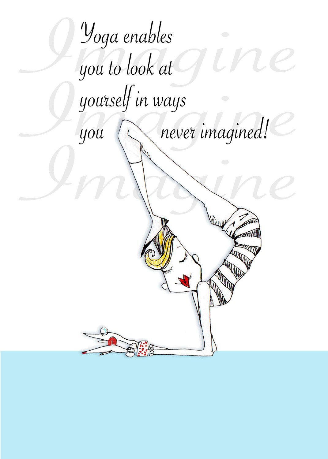 Funny Yoga Quotes Funny Yoga Quotes Yoga quote humor 5x7 print by | Yoga | Yoga  Funny Yoga Quotes