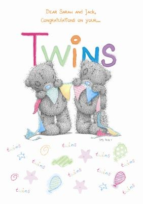Twins are just about the cutest thing going, even if they are hardwork.  Take at look at the gorgeous Twin cards available on Moonpig.com.au