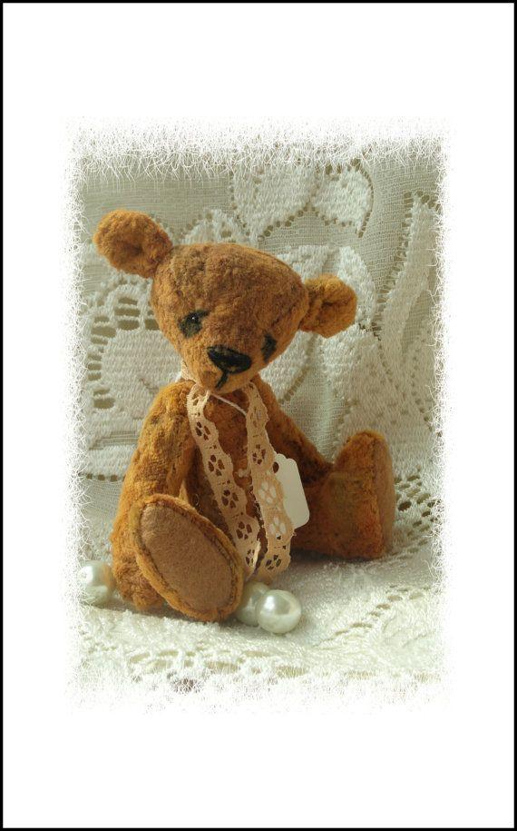 Ginger, vintage style hand made art bear