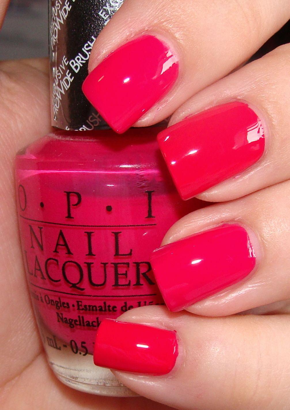 OPI Watermelon | Nails | Pinterest | Esmalte, Pintura de uñas y Essie