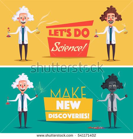 Crazy old scientist. Funny character. Cartoon vector ...