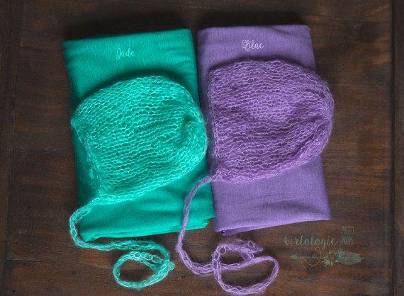 Newborn Mohair Bonnet & Wrap Set  Photo by GirlologiePhotoProps