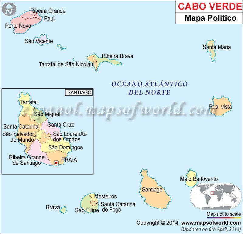 Caboverdemapa CABO VERDECape Verde Praia Pinterest Cape - Cape verde map