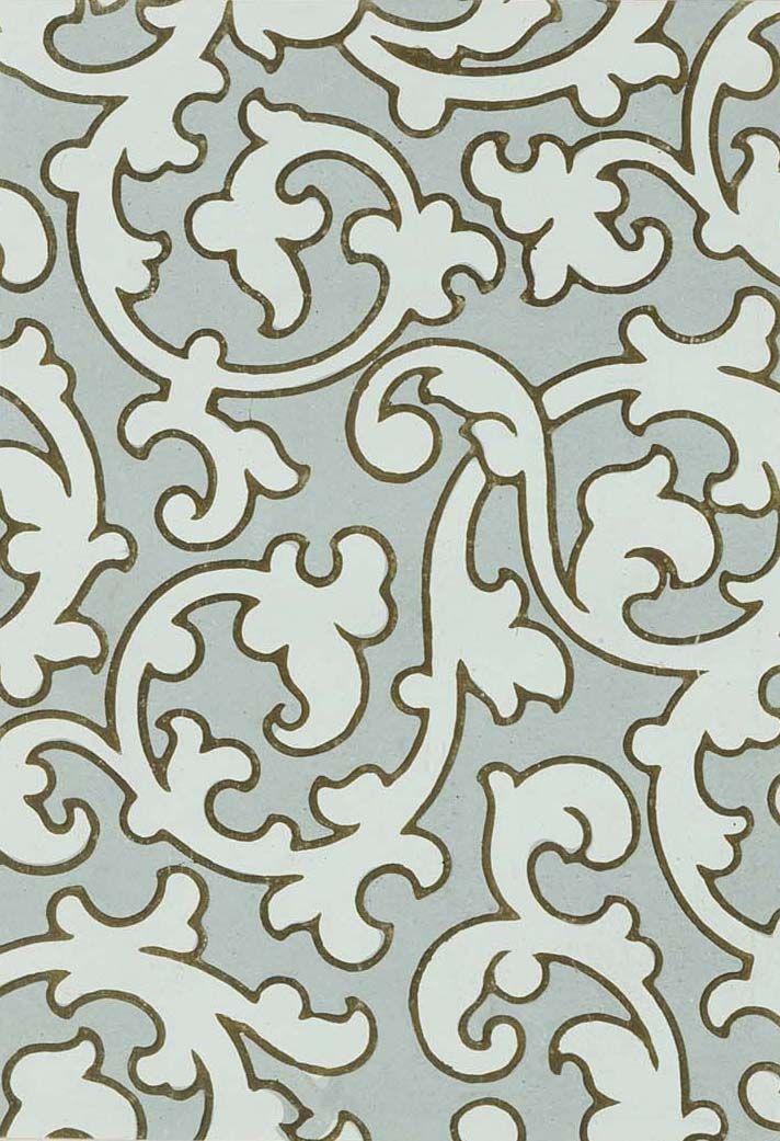 Block Wallpaper Design 1851The Textile Blog