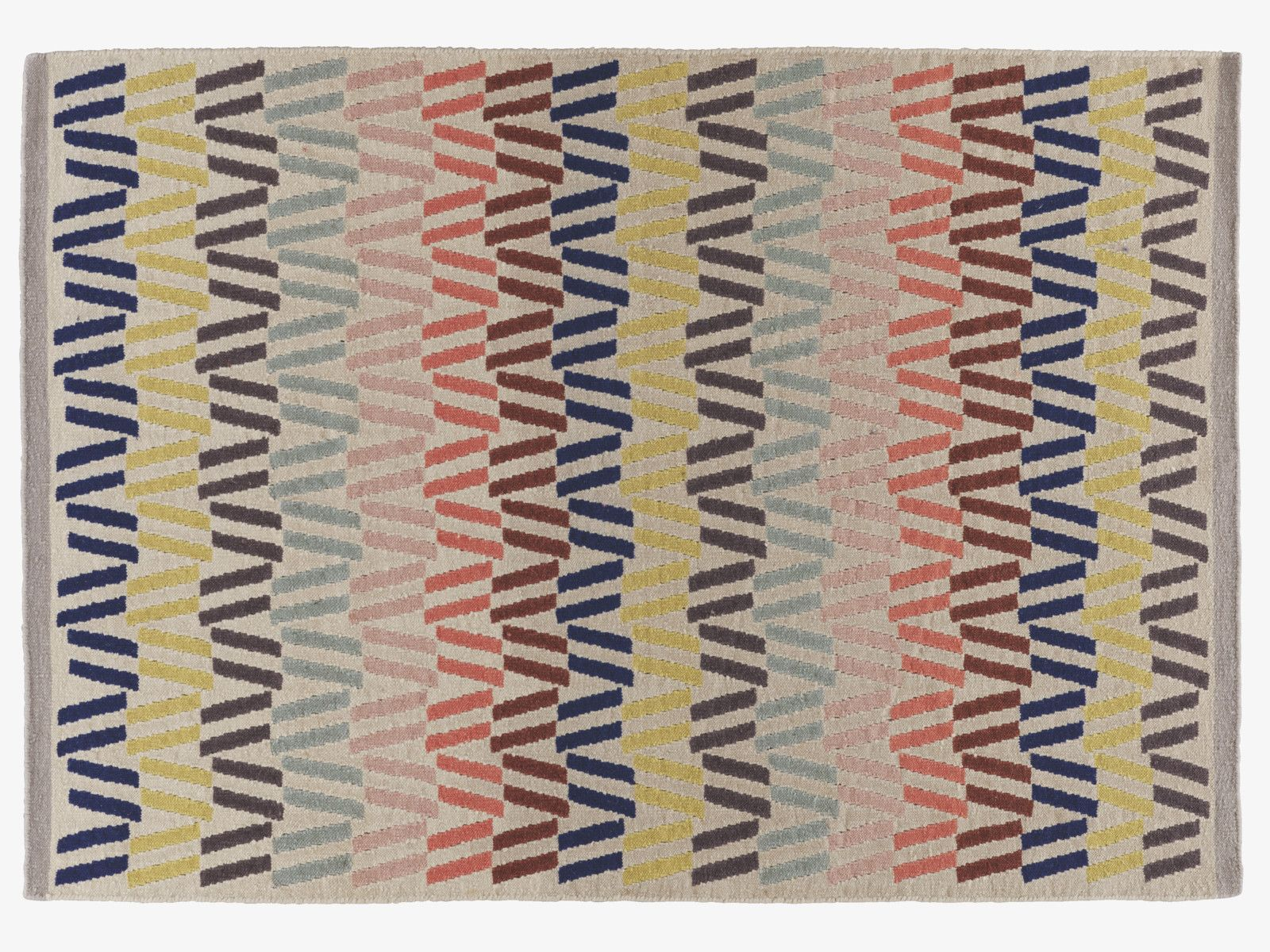 Fyfe Multi Coloured Wool Medium Multi Coloured Rug 140 X 200cm Habitatuk Colorful Rugs Rugs Rugs On Carpet