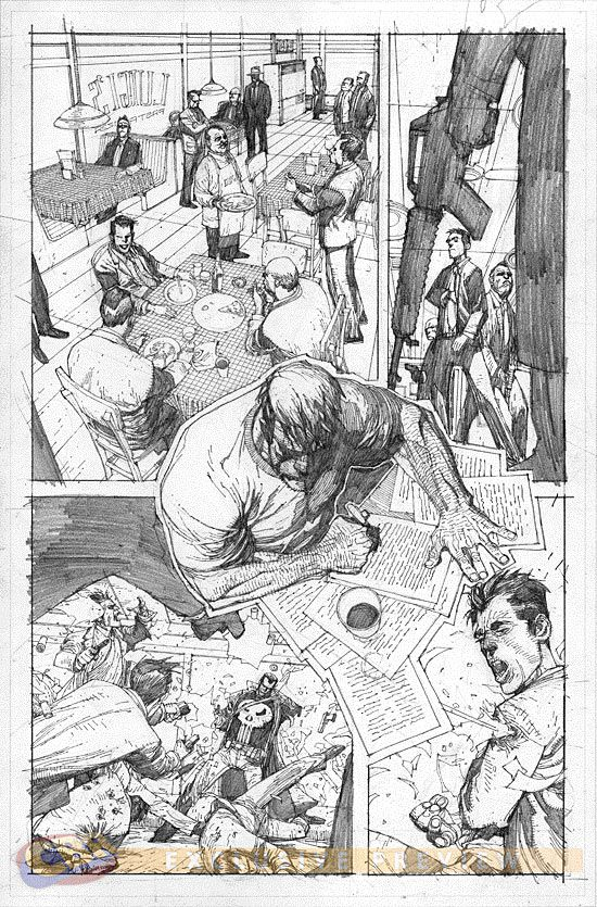Punisher Trial of the Punisher 1 Art by Leinil Yu Sequential - comic storyboards