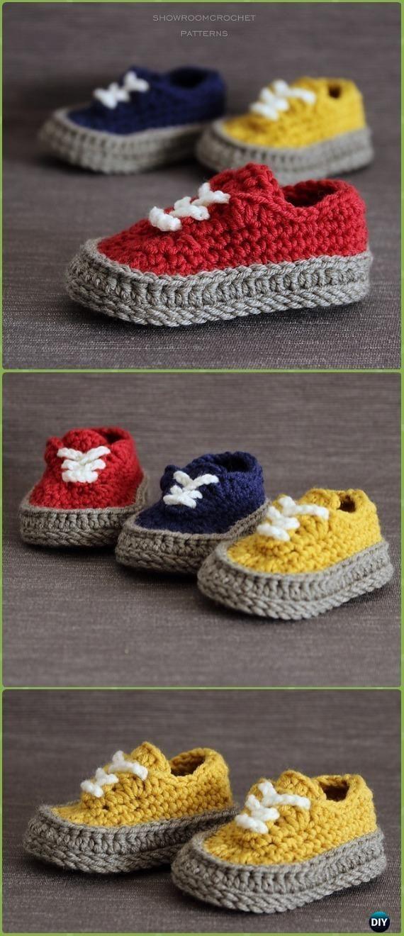 Crochet Classic Baby Sneakers Paid Pattern - Crochet Sneaker ...
