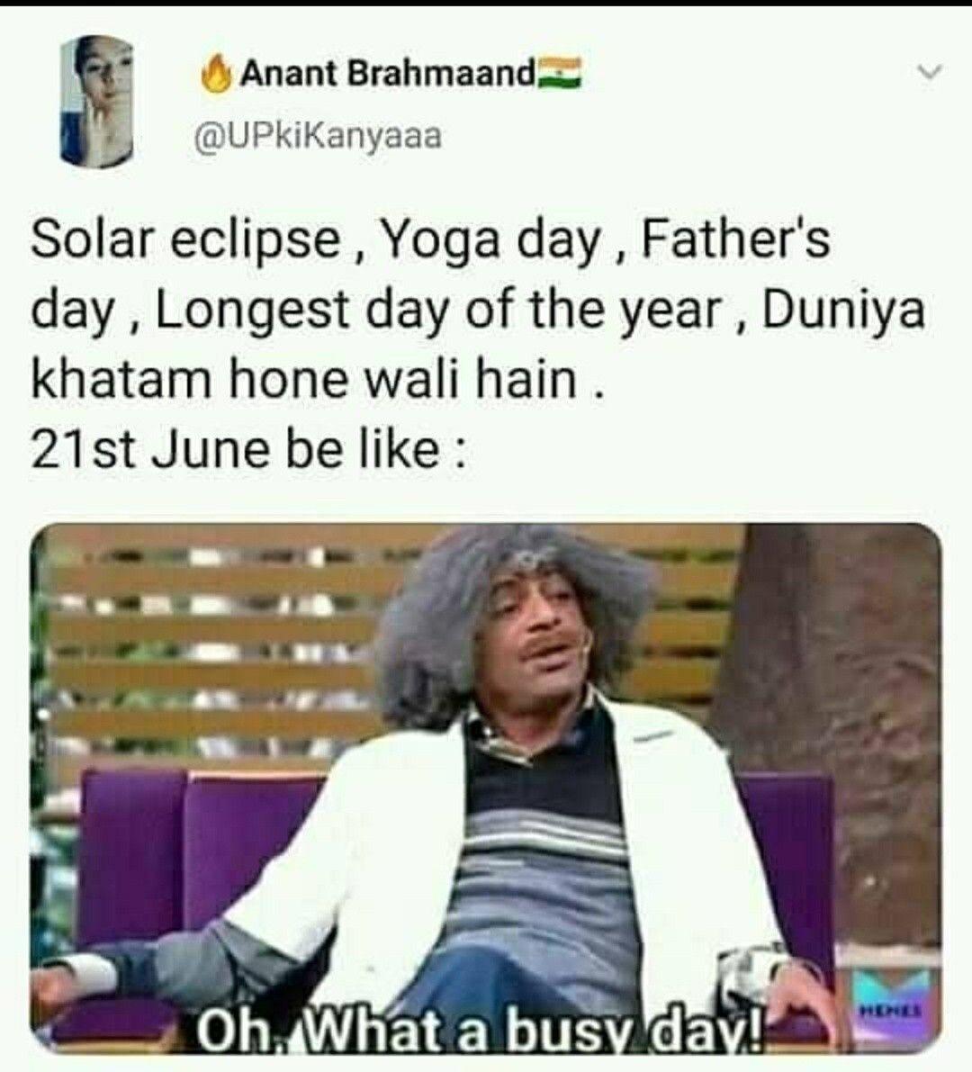 Hn Yoga Day Relatable Humour