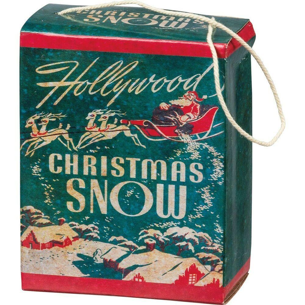 Mica Snow Reproduction 1 oz Retro Style Box Christmas ...