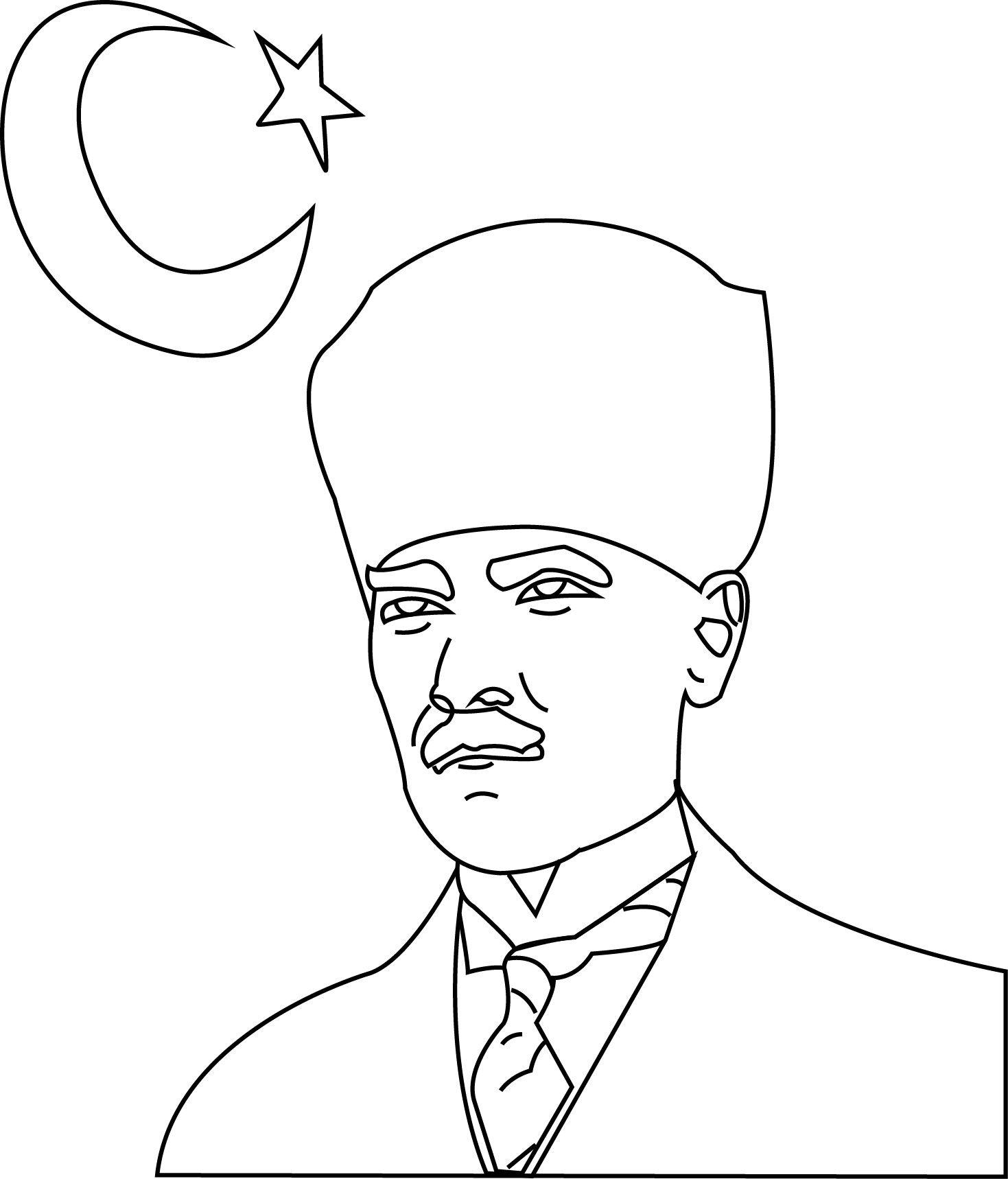 Atatürk Boyama Sayfası Atatürk Ve çocuk Art Classroom Decor Ve