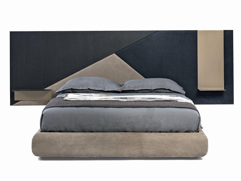 Leather Double Bed With High Headboard Luxurydoublebeddesign