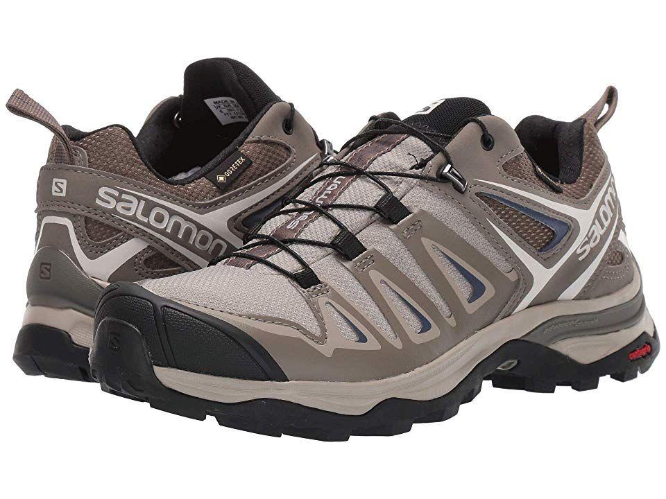 Salomon X Ultra 3 GTX Womens Hiking Shoes Vintage KakiBungee CordCrown Blue