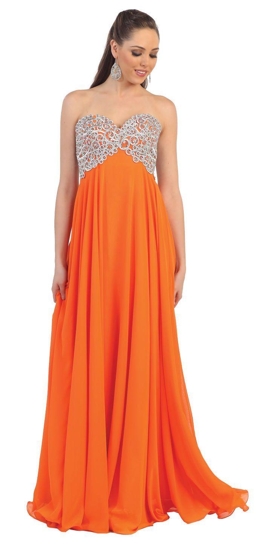 Long prom dress plus size formal pinterest strapless prom
