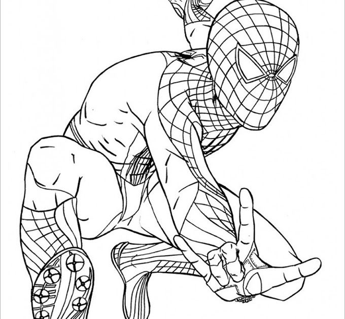 Spiderman Coloring Pages To Print At Getdrawings Free Download