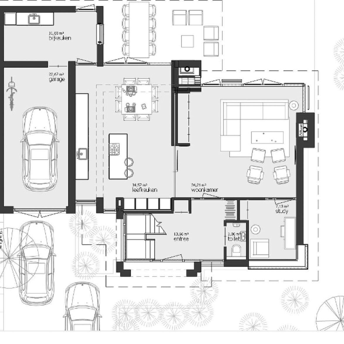 Indeling huis plattegronden pinterest plattegronden for Woning indeling
