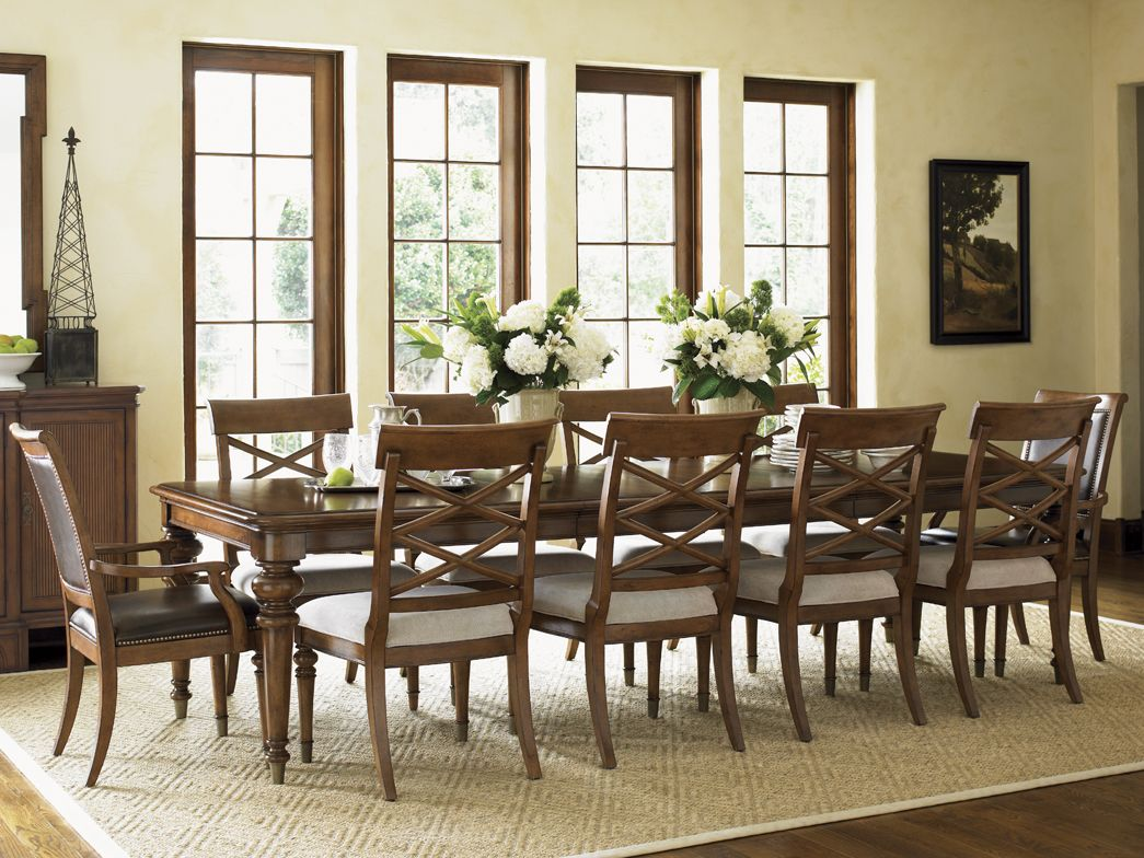 Grayson Dining Table- With two 20-inch table leaves, there is plenty of room for everyone to feel welcomed.