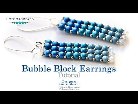 Photo of Bubble Block Earrings- DIY Jewelry Making Tutorial by PotomacBeads