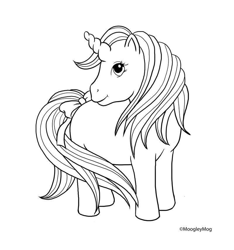 MLP Lineart 8 Unicorn by