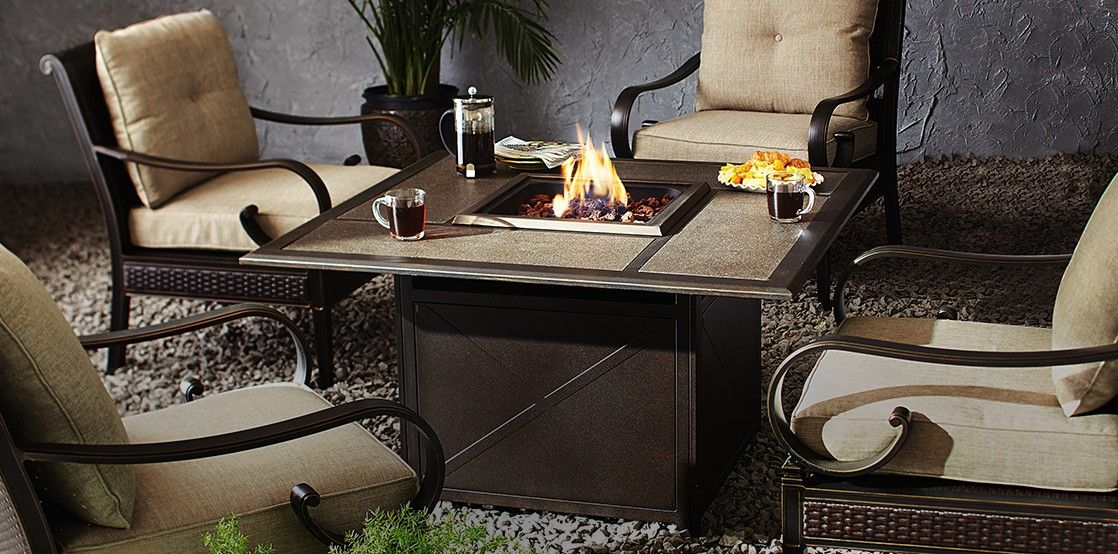 Warm up your patio with the CANVAS Sorento Gas Fire Table