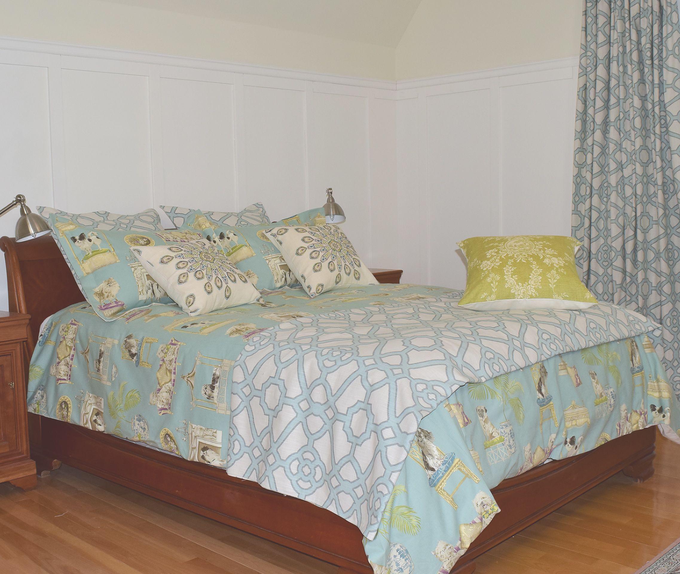Bedding Curtains And Cushions Ensemble De Literie Rideaux Et De