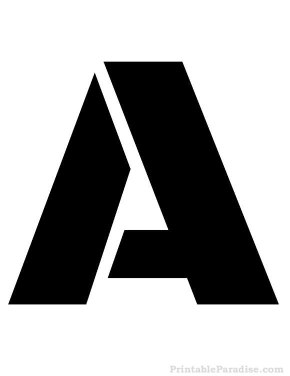 Printable Letter A Stencil  Letter Stencils