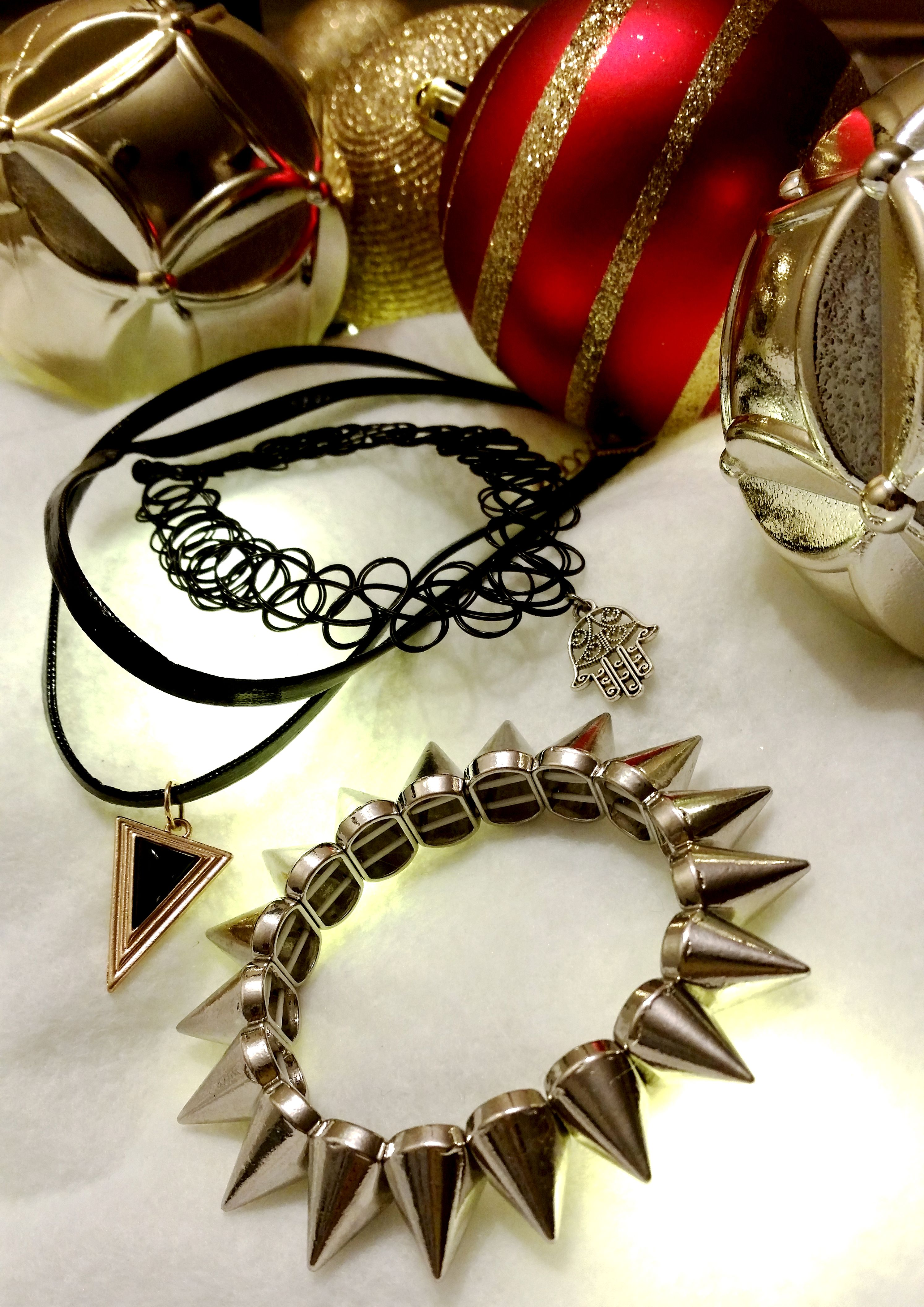 Gifts for badass chics! #grunge #spikes #choker #leather #jewelry ...