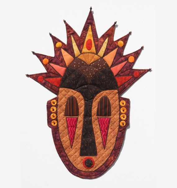 African-Inspired Quilted Tribal Mask - Wall Hanging - AFRICAN ROYAL ...