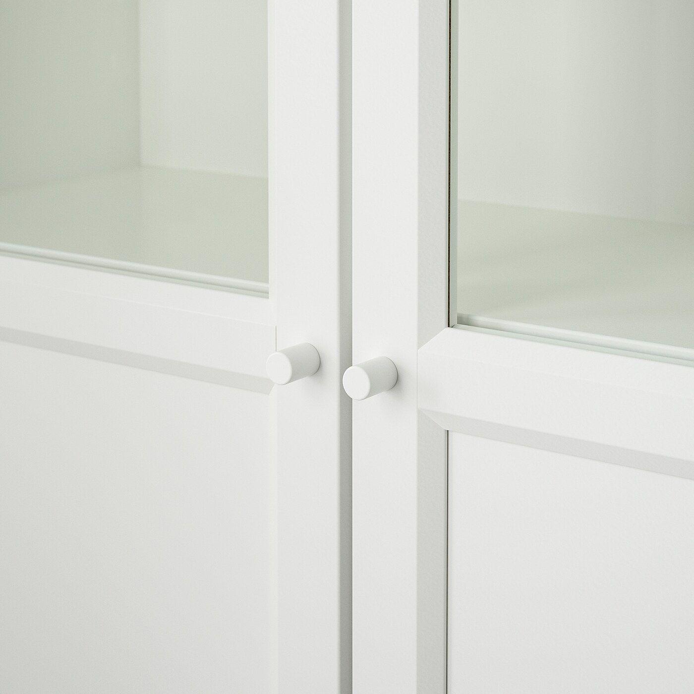 IKEA BILLY Bücherregal+Aufs/Paneel-/Vitrtüren – weiß