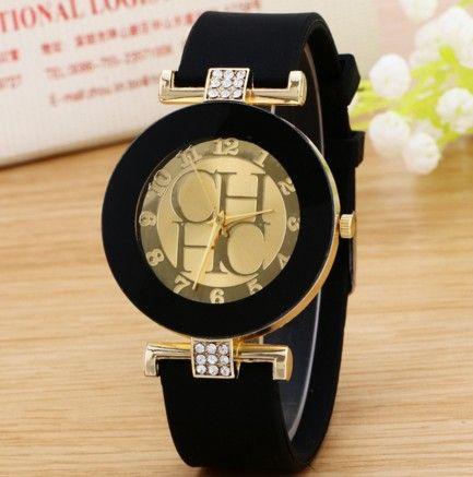 Dámské hodinky silikonové černé – dámské hodinky Na tento produkt se  vztahuje nejen zajímavá sleva 08e1656784