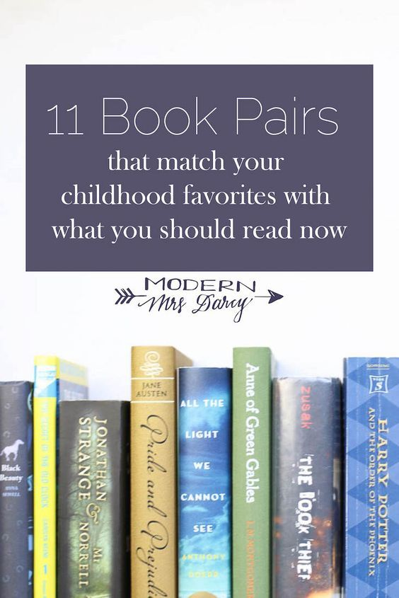 11 Book Pairs That Match Your Childhood Favorites With What You