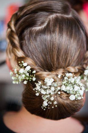 Un mariage en bleu et kraft Inspiration coiffure mariage
