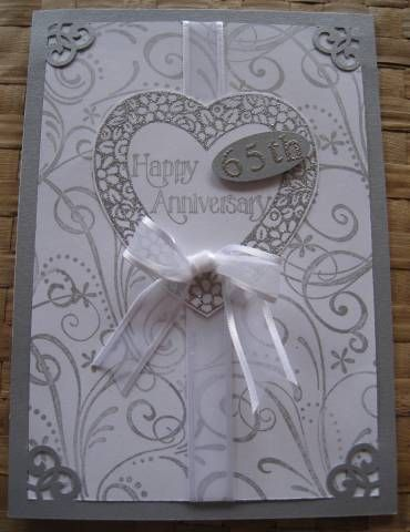 sg-65th anniversary card by Quiltmaniac46 - Cards and Paper Crafts at Splitcoaststampers