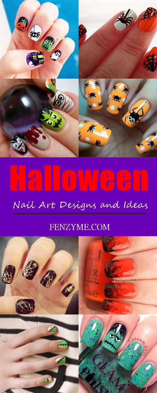 40 Halloween Nail Art Designs And Ideas Pinterest Nagel Nagel