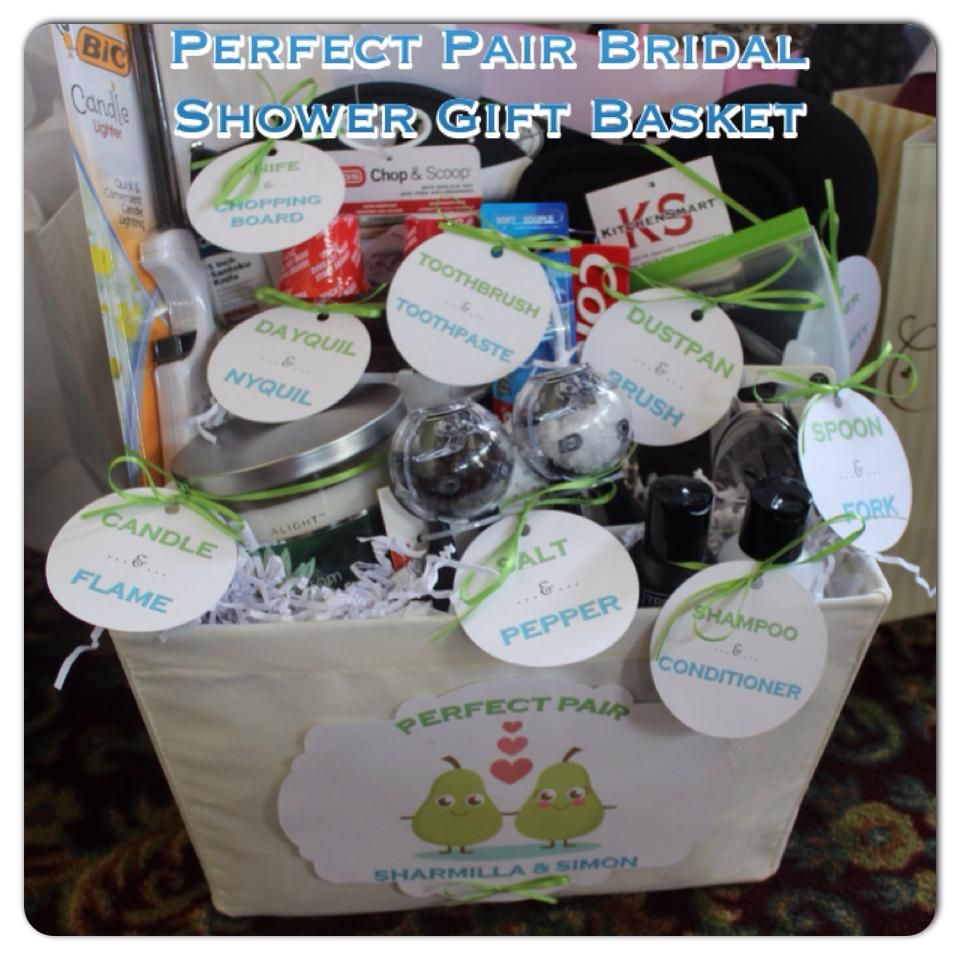 """Bridal Shower Gift Basket Climbing On House Halloween: Found This """"Perfect Pair"""" Gift Basket Idea Online And"""