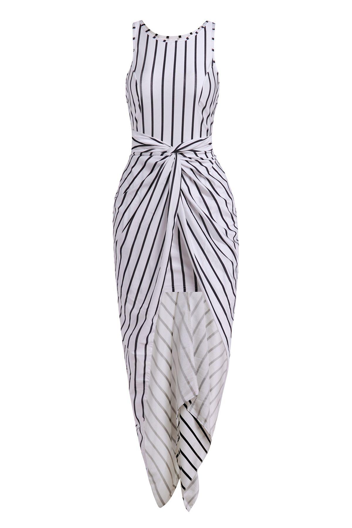 Vertical Stripes Asymmetrical Racerback Maxi Dress White And Black Racerback Maxi Dress Vertical Striped Dress White Maxi Dresses Online [ 1800 x 1200 Pixel ]
