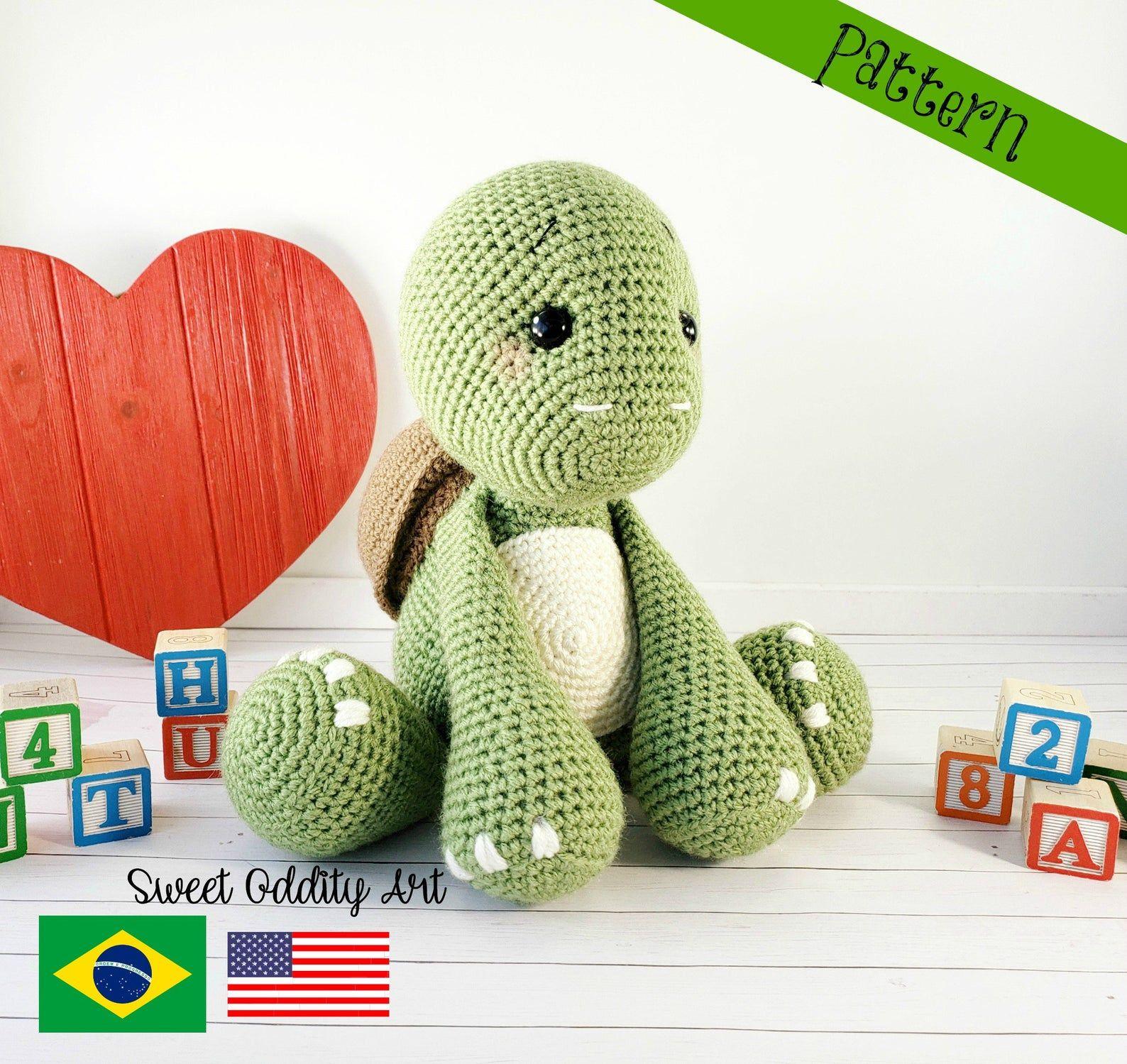 BABY TURTLE PDF Crochet Pattern (English only) | Crochet turtle ... | 1499x1588