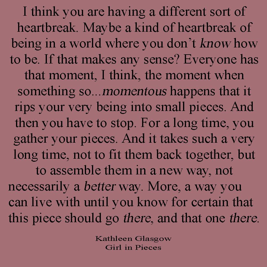 Kathleen Glasgow quote from Girl In Pieces