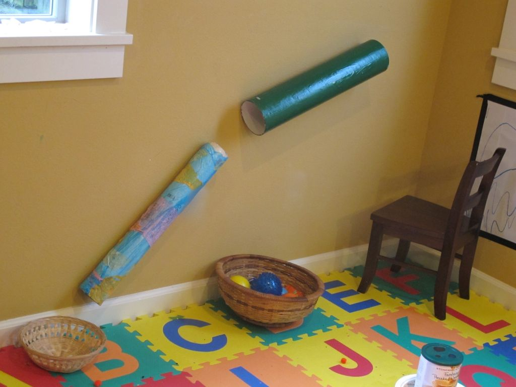 easy & fun indoor diy ball ramp for toddlers | early