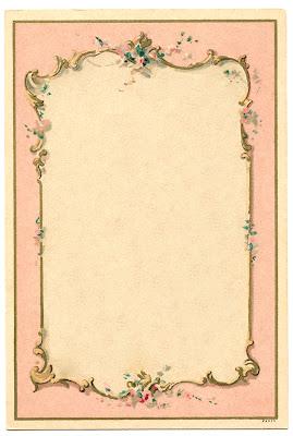 14 French Frames Beautiful Background Vintage Vintage Paper Pink Roses Background